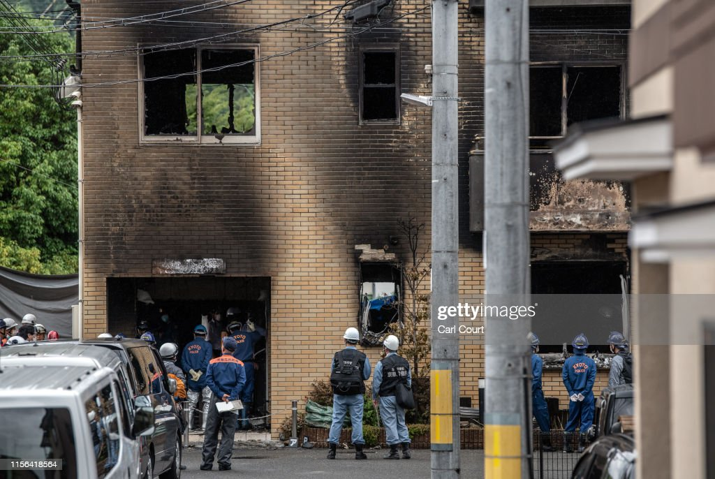 Arson Attack On Kyoto Animation Studio : News Photo
