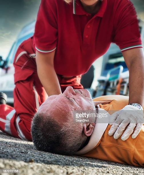 emergency service rescuing an infarcted - myocardium stock photos and pictures