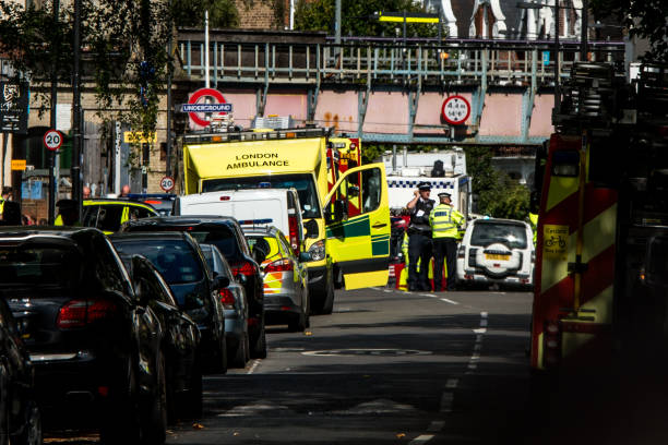 emergency services attend to the scene near parsons green