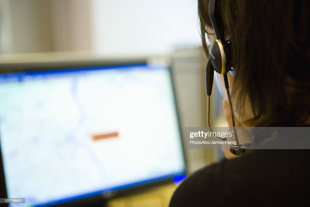 Emergency services dispatcher : Stock Photo