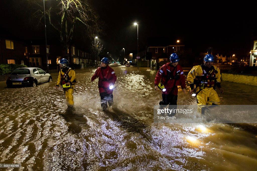 Major Incident Declared As Storm Desmond Wreaks Havoc In Cumbria : News Photo