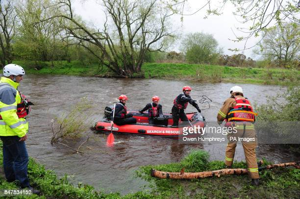 Emergency services search for Ian Bell an eightyearold boy who is believed to have fallen into a rainswollen River Wear at Sunnybrow near Willington...