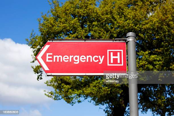 Emergency sign outside a hospital