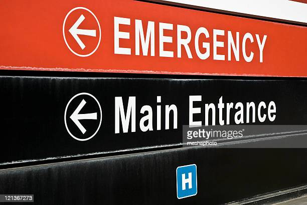 emergency sign - entrance sign stock pictures, royalty-free photos & images