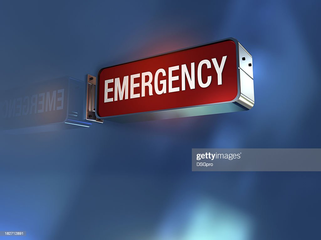 Emergency sign : Stock Photo