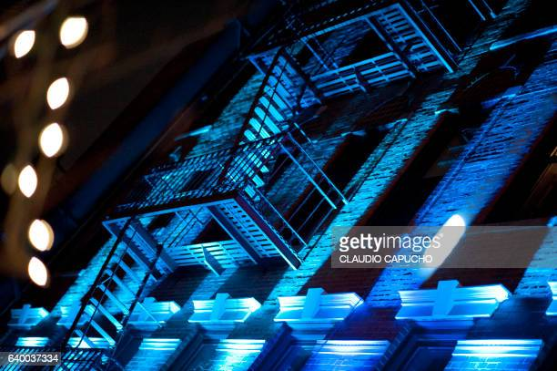 emergency stairs at queens, new york - claudio capucho stock photos and pictures