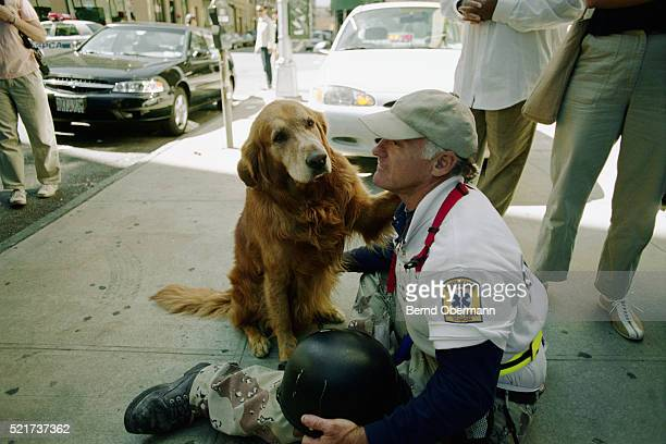 Emergency Technician with Rescue Dog