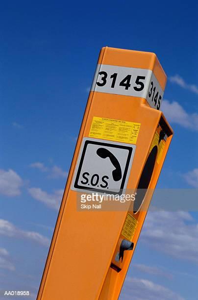 emergency telephone booth - sos ストックフォトと画像