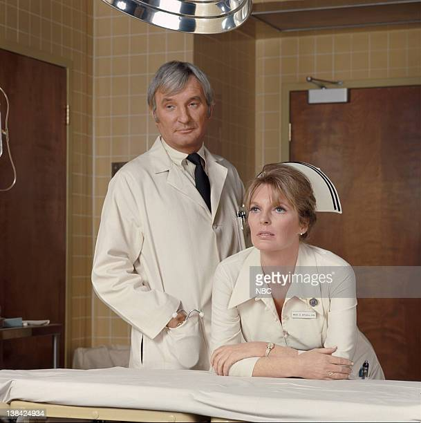 EMERGENCY 'Emergency The WedsworthTownsend Act' Episode 1 Aired 1/15/1972 Pictured Bobby Troup as Dr Joe Early Julie London as Nurse Dixie McCall