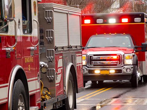 Emergency vehicles responding 1081167218