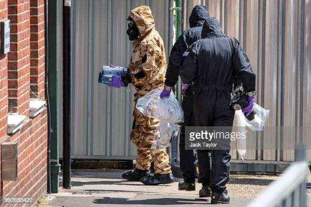 Emergency workers in protective suits search around John Baker House Sanctuary Supported Living after a major incident was declared when a man and...