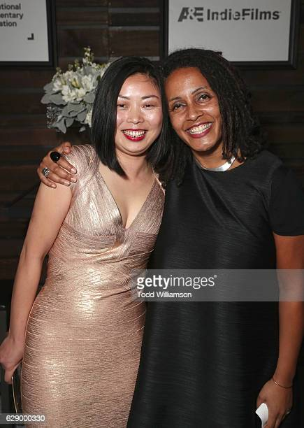 Emerging Documentary Filmmaker award winner Nanfu Wang and presenter Tabitha Jackson attend at the 32nd Annual IDA Documentary Awards at Paramount...