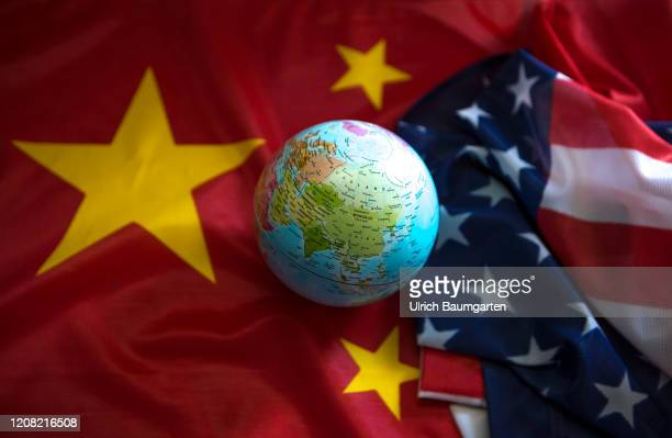 Emerging global superpower People's Republic of China. Fight for supremacy between the US and China. Symbol photo on the subjects economy, industry,...