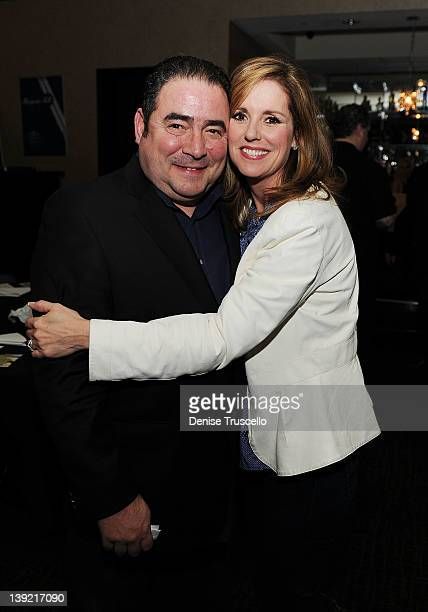 Emeril Lagasse and Alden Lovelace attend the Beach Bar Rum launch at Cabo Wabo Cantina on February 17 2012 in Las Vegas Nevada
