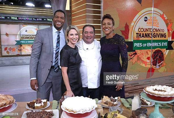 """Emeril Lagasse is a guest on """"Good Morning America,"""" Tuesday, November 15 airing on the Walt Disney Television via Getty Images Television Network...."""