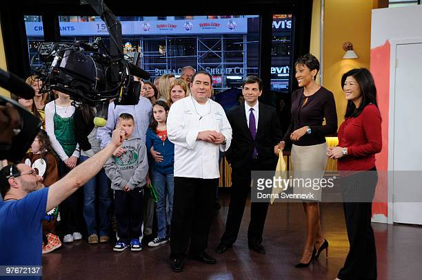 AMERICA Emeril Lagasse joins the anchors on the set of GOOD MORNING AMERICA 31210 on the Walt Disney Television via Getty Images Television Network...