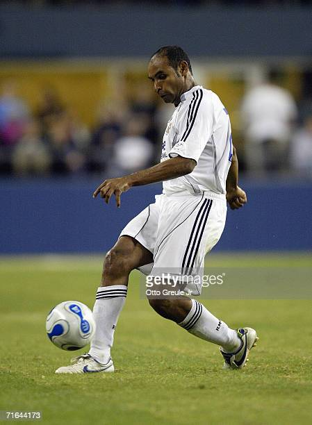 Emerson da Rosa of Real Madrid makes a pass play during their friendly match against D.C. United on August 9, 2006 at Qwest Field in Seattle,...