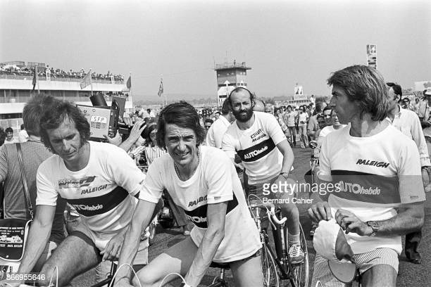 Emerson Fittipaldi Arturo Merzario Henri Pescarolo Jacques Laffite Grand Prix of France Circuit Paul Ricard 04 July 1976 Drivers Emerson Fittipaldi...