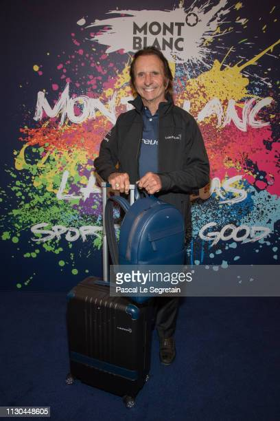 Emerson Fittipaldi attends Montblanc X Laureus Sport For Good photocall at Hotel Hermitage during 2019 Laureus World Sports Awards on February 17...