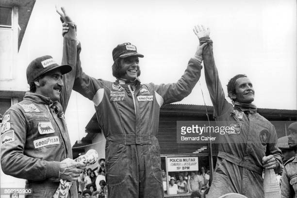 Emerson Fittipaldi, Clay Regazzoni, Jacky Ickx, Grand Prix of Brazil, Interlagos, 27 January 1974.