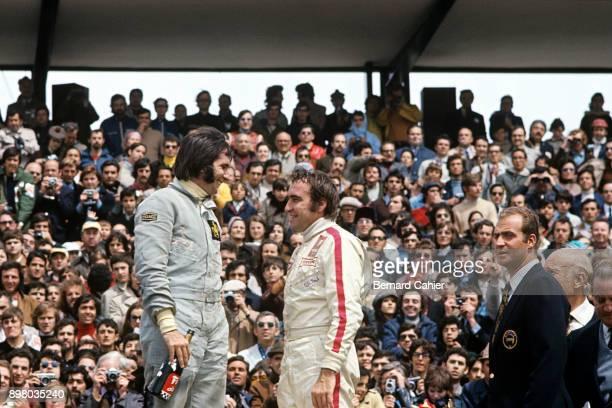 Emerson Fittipaldi, Clay Regazzoni, Juan Carlos King of Spain, Grand Prix of Spain, Circuito del Jarama, 01 May 1972. Emerson Fittipaldi and Clay...