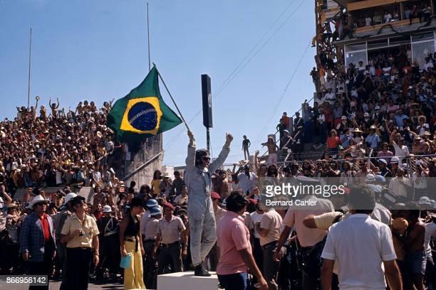 Emerson Fittipaldi Colin Chapman Maria Helena Fittipaldi Grand Prix of Brazil Interlagos 11 February 1973
