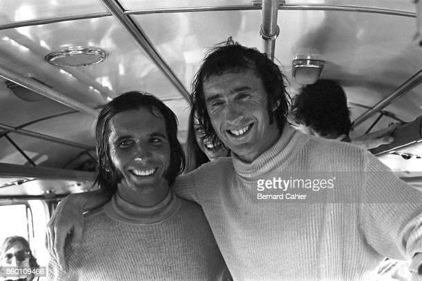 Emerson Fittipaldi Jackie Stewart Grand Prix of Brazil Interlagos February 11 1973 Rivals but friends Emerson Fittipaldi and Jackie Stewart