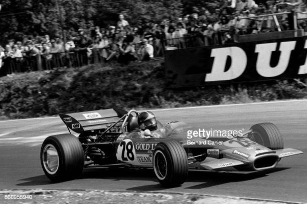 Emerson Fittipaldi, Lotus-Ford 49C, Grand Prix of Great Britain, Brands Hatch, 18 July 1970. Emerson Fittipaldi at the wheel of the Lotus 49C, in his...