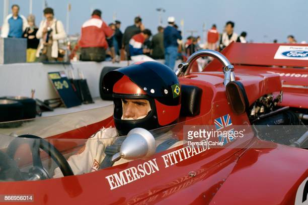 Emerson Fittipaldi LotusFord 72C Questor Grand Prix Ontario Motor Speedway California 28 March 1971