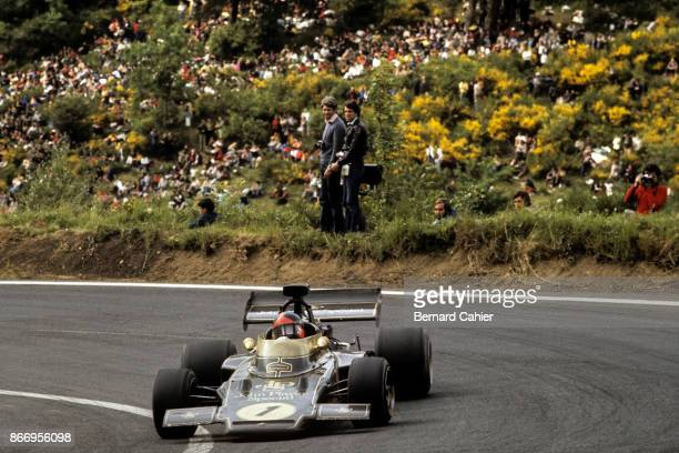Emerson Fittipaldi, Lotus-Ford 72D, Grand Prix of France, Charade Circuit, 02 July 1972.