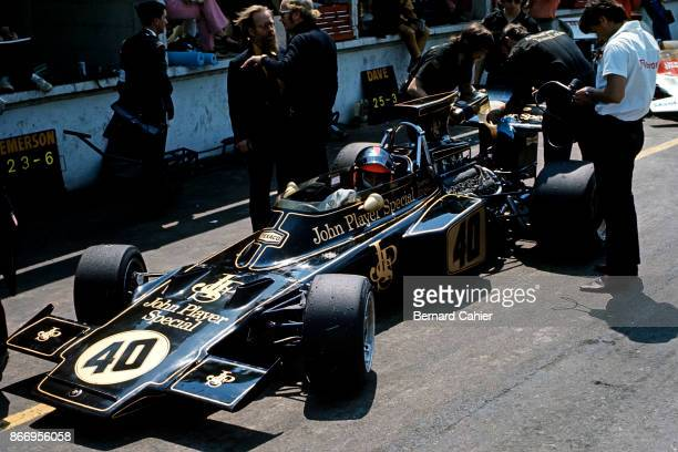 Emerson Fittipaldi, Lotus-Ford 72D, Grand Prix of Great Britain, Brands Hatch, 15 July 1972. Emerson Fittipadi during practice for the 1972 British...