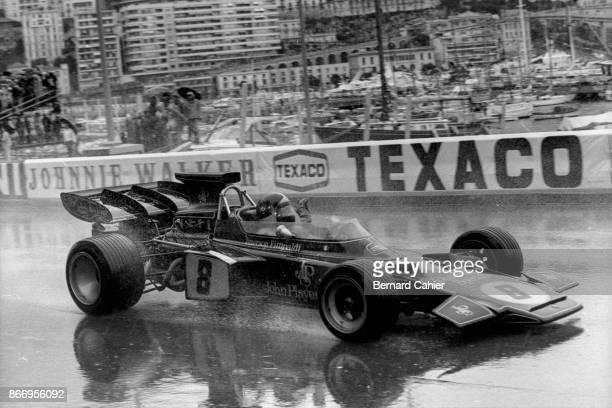 Emerson Fittipaldi, Lotus-Ford 72D, Grand Prix of Monaco, Circuit de Monaco, 14 May 1972.