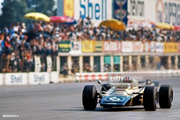 Emerson Fittipaldi LotusPratt Whitney 56B Grand Prix of Italy Autodromo Nazionale Monza 05 September 1971 Emerson Fittipaldi driving the turbine...