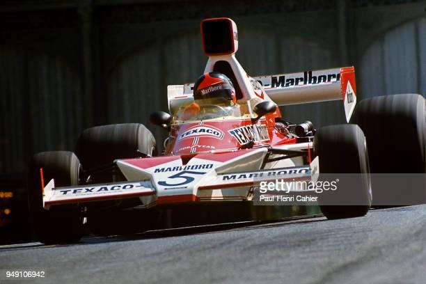 Emerson Fittipaldi, McLaren-Ford M23, Grand Prix of Monaco, Circuit de Monaco, 26 May 1974. Emerson Fittipaldi exiting Casino Square corner in the...