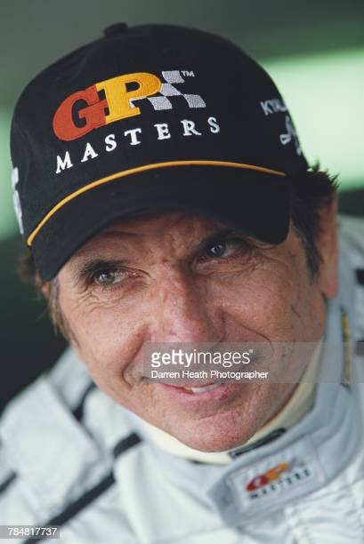 Emerson Fittipaldi of Brazil driver of the Team LG Delta Reynard 2KI Nicholson McLaren Cosworth V8 during the Grand Prix Masters Silverstone race on...