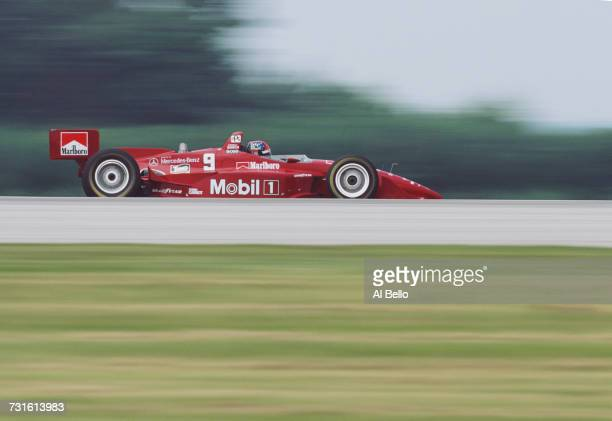 Emerson Fittipaldi of Brazil drives the Hogan Penske Penske PC25 MercedesBenz IC108C V8t during the Championship Auto Racing Teams 1996 PPG Indy Car...