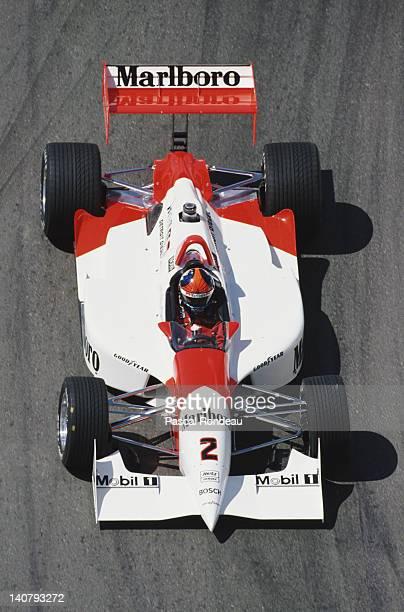 Emerson Fittipaldi of Brazil drives the Marlboro Team Penske Penske PC2394Ilmor during practice for the PPG CART Indy Car World Series Australian FAI...