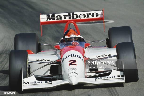 Emerson Fittipaldi of Brazil drives the Marlboro Team Penske Penske PC2394Ilmor D during the PPG CART Indy Car World Series Australian FAI Indy Car...
