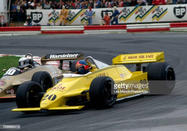 Emerson Fittipaldi of Brazil enroute to placing twelfth, driving a Fittipaldi F8 with a Ford V8 engine for Skol Fittipaldi Team, during the 1980...