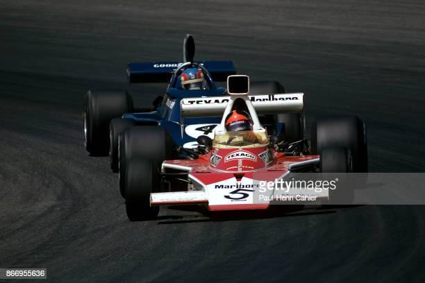 Emerson Fittipaldi Patrick Depailler McLarenFord M23 TyrrellFord 007 Grand Prix of Austria Osterreichring 18 August 1974