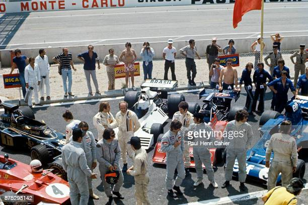 Emerson Fittipaldi Peter Revson Denny Hulme Jody Scheckter Jackie Stewart François Cevert Grand Prix of France Circuit Paul Ricard 01 July 1973...