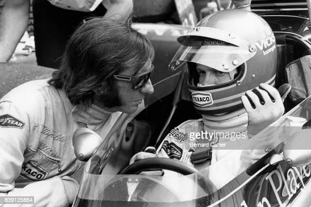 Emerson Fittipaldi Ronnie Peterson Grand Prix of Austria Zeltweg 19 August 1973