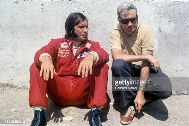 Emerson Fittipaldi, Teddy Mayer, Grand Prix of Brazil, Interlagos, 27 January 1974. Emerson Fittipaldi with McLaren Team Manager Teddy Mayer.