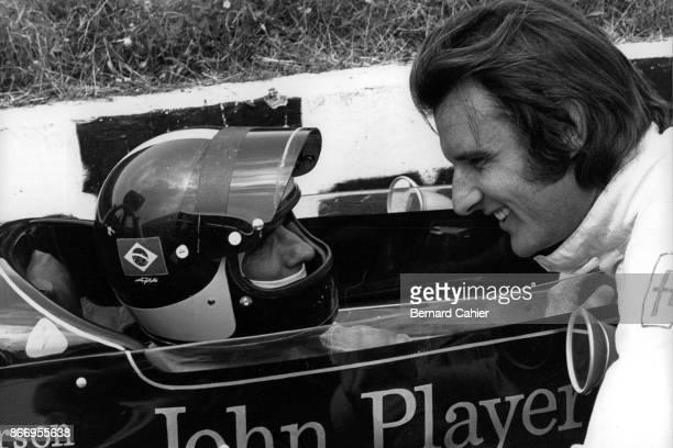 Emerson Fittipaldi, Wilson Fittipaldi, Lotus-Ford 72D, Brabham-Ford BT33 OR Brabham-Ford BT34 OR Brabham-Ford BT37, Grand Prix of Spain, Circuito del...