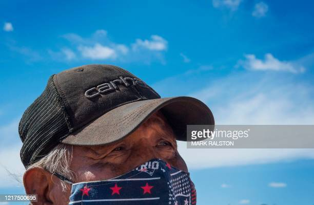Emerson Gorman who is a Navajo elder poses at his property near the Navajo Nation town of Steamboat in Arizona on May 23 2020 Emerson Gorman knows...