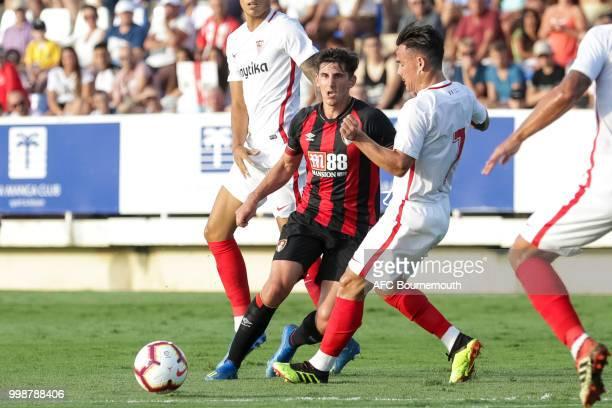 Emerson Hyndman of Bournemouth controls the ball during AFC Bournemouth v Sevilla preseason friendly at La Manga Club Football Centre on July 14 2018...