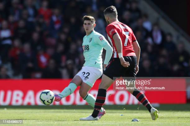 Emerson Hyndman of Bournemouth during the Premier League match between Southampton FC and AFC Bournemouth at St Mary's Stadium on April 27 2019 in...
