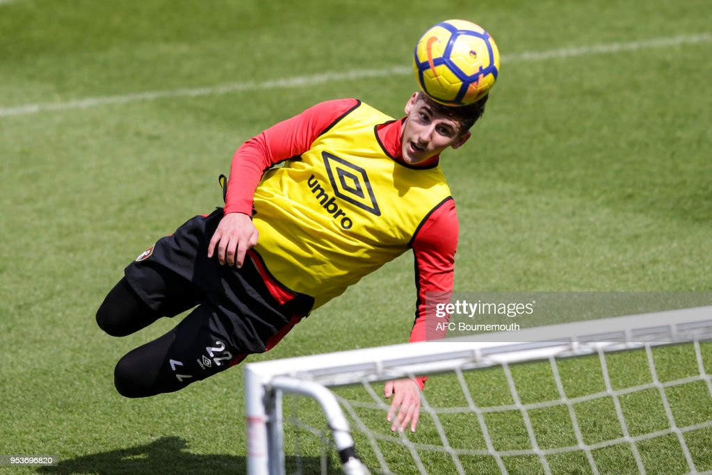 Emerson Hyndman of Bournemouth during training on May 1