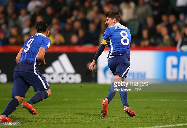 Emerson Hyndman of USA celebrates after scoring the second goal during the FIFA U20 World Cup Group A match between New Zealand and USA at the North...