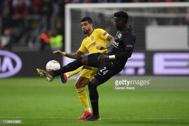 Emerson of Chelsea battles with Danny Da Costa of Eintracht Frankfurt during the UEFA Europa League Semi Final First Leg match between Eintracht...